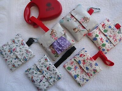 Cath Kidston Oilcloth Fabric- Dog Lead Poop/ Poo/Pooh Bag Holder- Showerproof