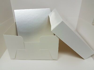 """Cake Boxes With Free Silver Board - 8"""" - 10"""" - 12"""" - 14"""" - 16"""" - SM Trade"""