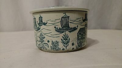 Nymolle Art Faience Hoyrup Limited Edition 495 Mid Century Danish Trinket Box
