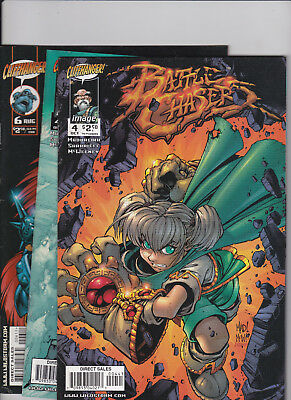 BATTLE CHASERS Lot of 4 Comics (Cliffhanger Comics)  Fine/Very Fine, Check Scans