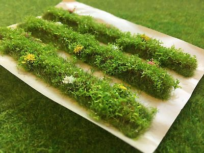 Spring Detailed Hedge Sections -Model Scenery Railway Static Grass Tufts Bushes