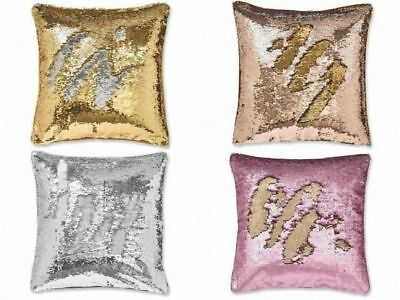 Catherine Lansfield Reversible Sequin Mermaid Sparkly Cushion Covers