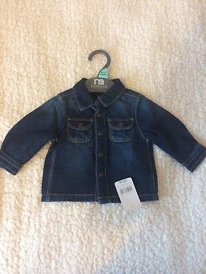 Lovely soft denim blouse - up to 3 months old (up to 14.5lb)
