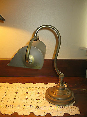 Awesome Antique Adjustable Goose Neck Copper Brass Piano Student Desk Lamp