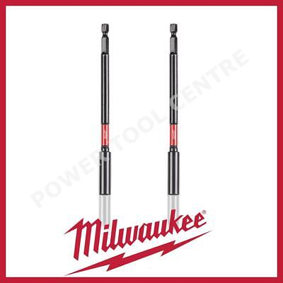 2x Milwaukee 48324511 152mm Shockwave Magnetic Long 1/4 Extension Hex Bit Holder