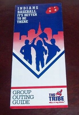 Cleveland Indians ticket order and schedules Pamplet 1988
