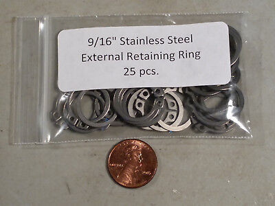 """9/16"""" 15mm External Stainless Retaining Snap Ring MMCC 471 A4 15 - 25 pc."""
