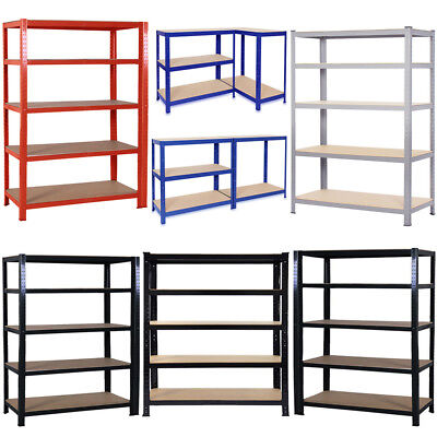1.8M Garage Shelving Racking Heavy Duty Warehouse Unit 5Tier 90/120cm Extra Wide