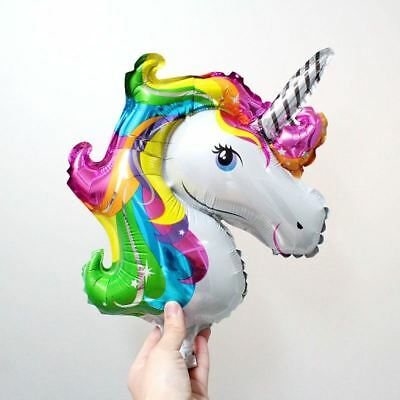 UNICORN PARTY BALLOONS Helium Foil Colourful Unicorn Balloons