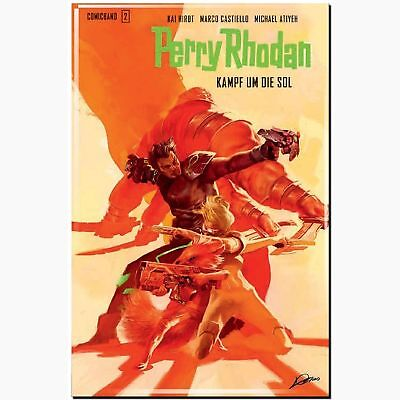 Perry Rhodan SaBa 2 Hardcover Kampf um die SOL SCIENCE FICTION Pulp COMIC ART