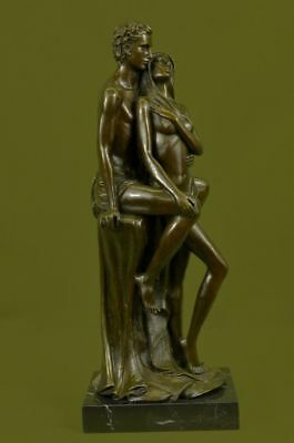 "Vintage French Bronze By Mavchi 17.5 ""tall,young romantic couple courting Sale"
