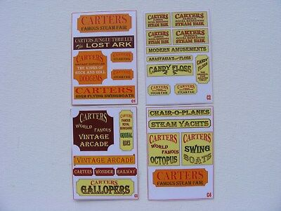 Carters Steam Fair Stickers Series 1 - Pack Of 4 Mini-Sheets