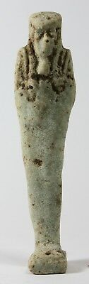 Ancient Egyptian Faience Ushabti Late Period c.600 BC