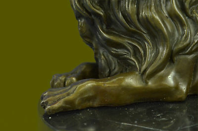 Animal Bronze Sculpture- Abstract Lion`s Bust- Contemporary Art Milo Cabin Decor