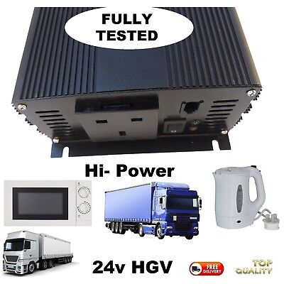 HGV LORRY 1500w 3000W 24v Inverter for Microwave & Kettle - 24 VOLT TO 240 VOLT