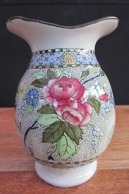 Antique Rare Royal Corona Ware Rosetta Vase S Hancock And Sons Stoke On Trent
