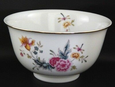 Avon American Heirloom Independence Day Porcelain Bowl Dragonfly Flowers 1981