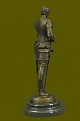 Art Deco Home Office Decor Triumphant Medieval Knight Bronze Sculpture Figurine