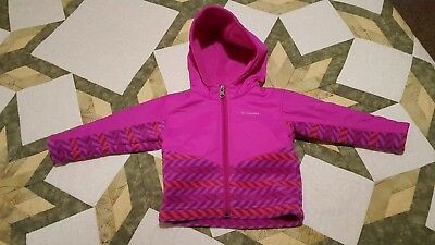 3700f3f27 BABY OR TODDLER Girls Columbia Coat Jacket with hood 12-18 Months ...