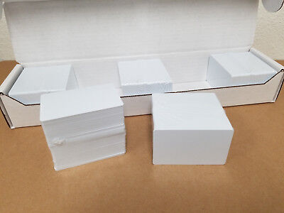 1000 Blank White PVC Cards - CR80, 30 Mil, Credit Card Size, USA - Free Ship