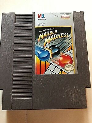 Marble Madness - A Real Classic Fun NES Nintendo Game,Cleaned And Tested