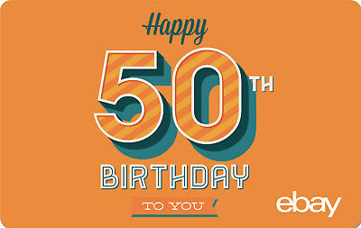 eBay Digital Gift card - Happy 50th $25 $50 $100 or $200 - Email Delivery