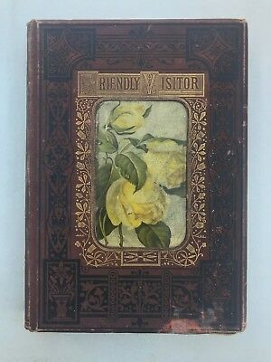 1886 Leather bound religion journal The Friendly Visitor Vol XX Christian Book