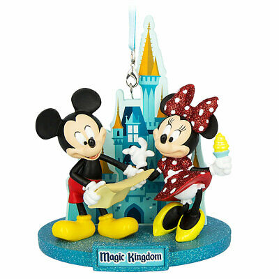 Disney Parks Mickey and Minnie at Magic Kingdom Christmas Ornament New with Tag
