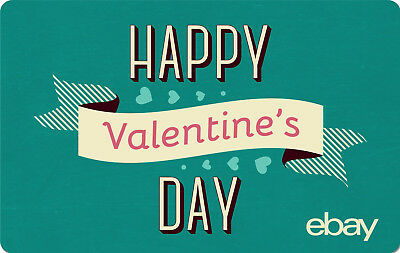 eBay Digital Gift card - Happy Valentine's Day $25 $50 $100 or $200 - Email