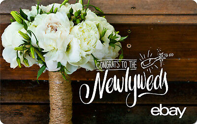 eBay Digital Gift card -Wedding Congrats Newlyweds $25 $50 $100 or $200 - Email
