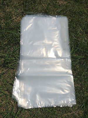 100 Heavy Duty Extra Large Plastic Bags Clear 420mmx800mm for Manure,Compost