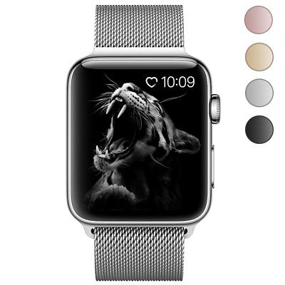 Apple Watch Band,Milanese Loop Fully Magnetic Clasp Stainless Steel Mesh 38mm