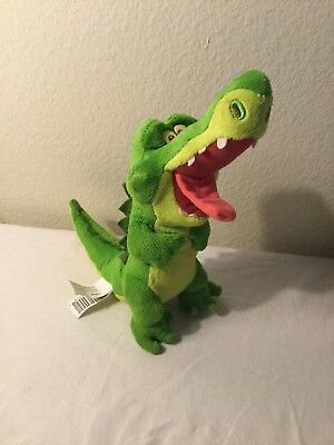 """Disney Jake And The Never Land Pirates Tic Toc Alligator Plush Just Play Toy 9"""""""