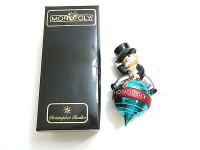 Christopher Radko Christmas Ornament Monopoly Rich Uncle Pennybags Holiday Cheer