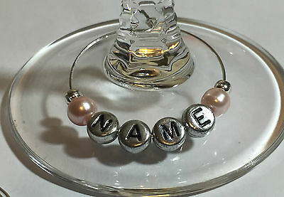 Personalised Wedding Wine Gl Charms Favours Top Table Party Charm Guest