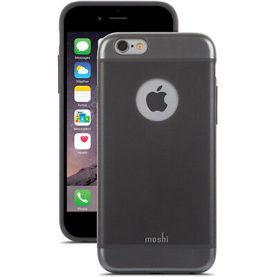 New Moshi iGlaze Armour Slim Metallic Aluminum Cover Case For iPhone 6 6S Black