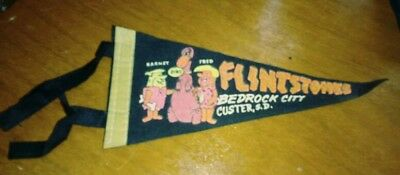 FLINTSTONES Vintage BEDROCK CITY CUSTER SD South Dakota SOUVENIR Penant