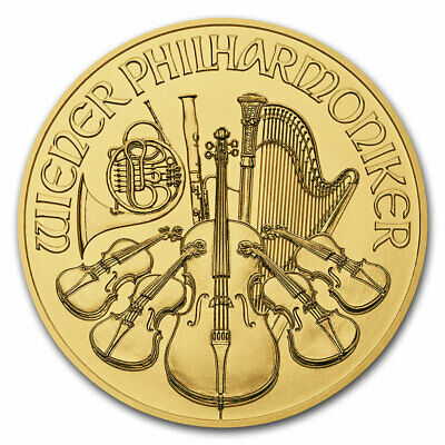 2018 Austria 1/25 oz Gold Philharmonic BU - SKU#152546