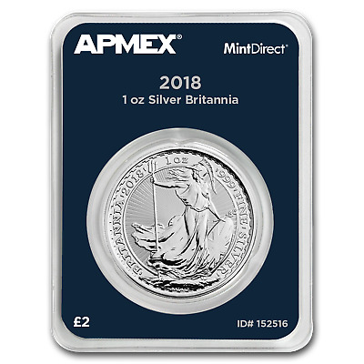 2018 Great Britain 1 oz Silver Britannia (MintDirect® Single) - SKU#152516