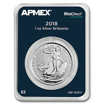 2018 Great Britain 1 oz Silver Britannia (MintDirect® Premier) - SKU#152517