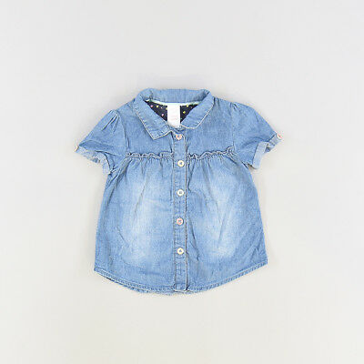 Camisa color Denim oscuro marca Baby Club 3 Meses  206042