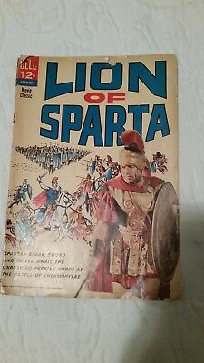 "Vintage 1962 Dell  Comic ""Lion of Sparta"" Adapted from Fox 20th Century Movie"
