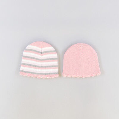 Pack 2 gorros color Rosa 6 Meses  206633
