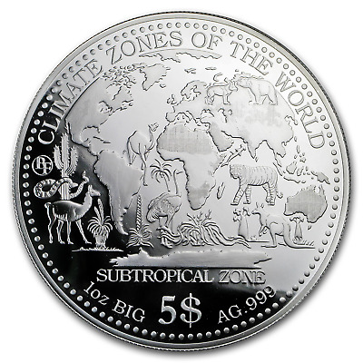 2017 Samoa 1 oz Silver Climate Zones (Subtropical Zone) - SKU#156235