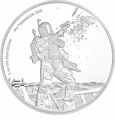 2017 Niue 1 oz Silver $2 Star Wars Boba Fett Proof (w/Box & COA) - SKU#157386