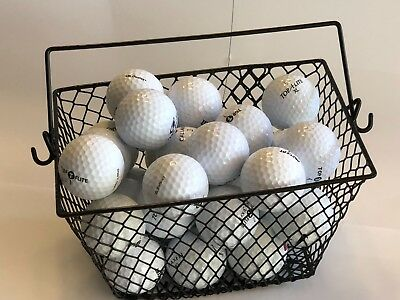 GOLF BALL BASKET... GREAT FOR PRACTICE ....Heavy-Duty Wire Mesh...Black..