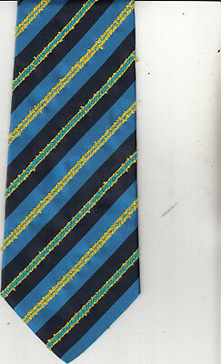 Byblos-Embroidered--Authentic-Silk/Cotton Tie-Made In Italy-Fe By30- Men's Tie