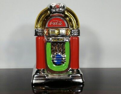 Vintage Original COCA COLA Ceramic Jukebox Salt and Pepper