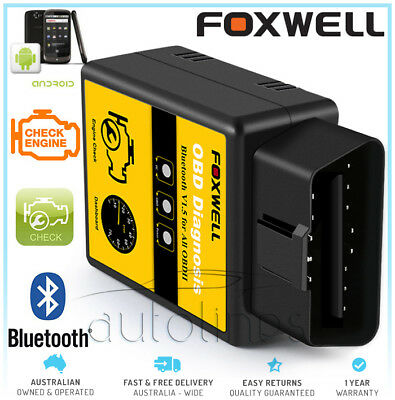 FOXWELL ELM327 OBD2 Bluetooth Car Diagnostic Scanner Tool Android For FORD