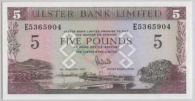 Northern Ireland Ulster Bank '1st January 1992' £5, Uncirculated